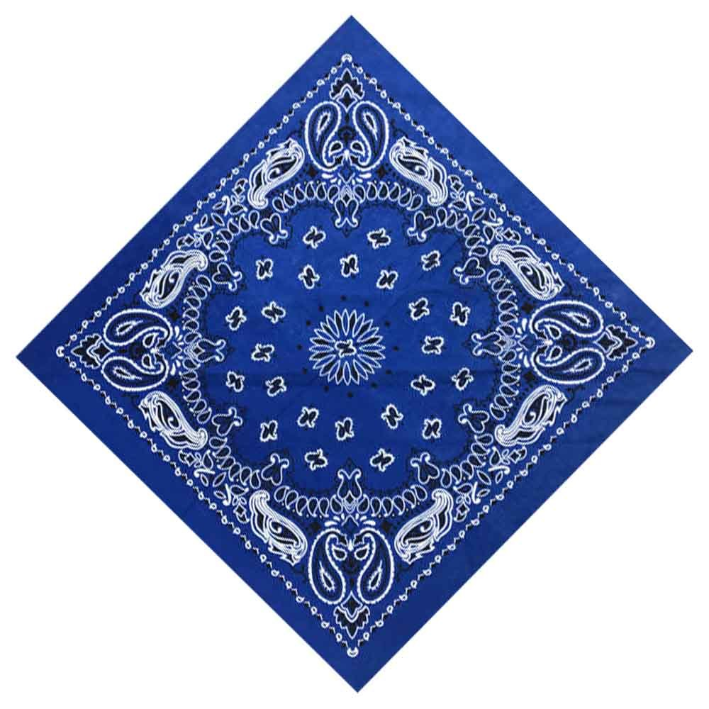 55*55cm Hip Hop Cotton Paisley Bandanas Head Wrap Black Red White etc 10 colors  image 3