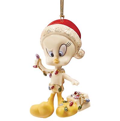 Lenox Tweety All Tangled Up Ornament Figurine Bird Christmas Lights Gift NEW