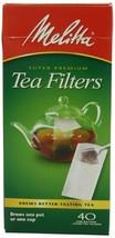Melitta Paper Tea Filters, Six 40 Count Boxes - $17.79