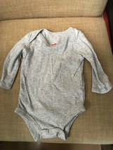 Carters Just One You  Baby Long Sleeve Bodysuit GRAY 3M - $6.95