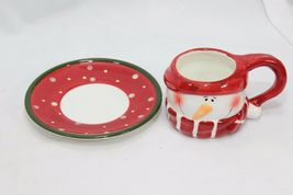 Snowman Xmas 4 Cups and 4 Saucers image 3