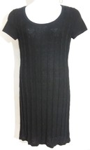 Spense women's Cable Knit Sweater dress Size Medium short sleeves knee length image 1