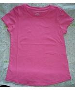 Wonder Nation Girls Essential T Shirt LARGE PLUS (10-12) Pink Fade Resis... - £7.60 GBP