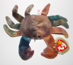 Ty Beanie Baby Claude Plush Crab 8in Stuffed Animal Retired with Tag 1996 - $19.99