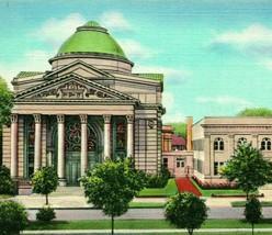 Augusta Georgia GA First Baptist Church Education Bldg UNP Vtg Linen Pos... - $3.95