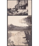 Rockport, Maine Lime Kiln Fire & Destruction (4) RPPC 1907 Photo Postcards - $75.00