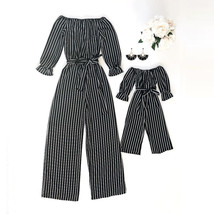 2019 Family Matching Mom Kids Clothes Striped Playsuit Bodysuit Jumpsuit... - $10.69