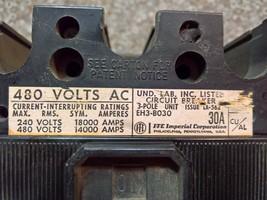 Ite Gould I-T-E Siemens Circuit Breaker EH3B030 480V Ac 3 Pole 30A EH3 Mccb - $118.75