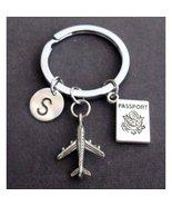 Airplane keychain, long distance friendship,Aviation Keychain, Long Dist... - $8.50