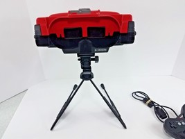 Nintendo Virtual Boy Red & Black Console, Stand, Controller + Red Alarm ... - $108.85