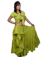 Wevez Latin American Tribal Dance 25 Yard Cotton Skirt 40 Inch Long - $34.63+