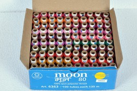 Coat's Moon all purpose sewing thread 1 box Moon Coats Sewing Polyester ... - $39.61