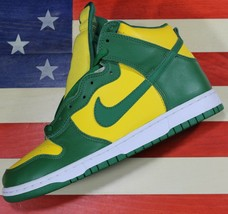 Nike Dunk High Brazil Green Yellow Leather SB Shoes Vtg 2003 [304717-731... - $555.55