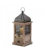 Large Flip-top Moroccan Wooden Lantern - $19.28