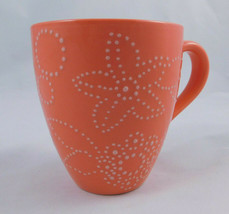 2006 Starbucks Coral White Embossed Flower Floral Coffee Cup Mug 12 Fl Oz - $19.78