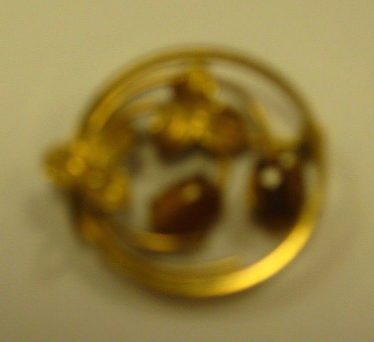 PIN marked WELLS 14K GF with Tiger Eye Stones PIN