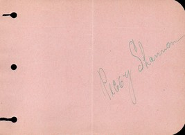 PEGGY SHANNON Autograph Movie actress. Ziegfeld girl. Nicely signed. - $148.50
