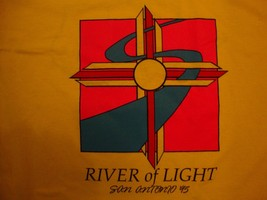 Vintage River Of Light Texas Light Brigade San Antonio 95 T Shirt Size XL - $15.83