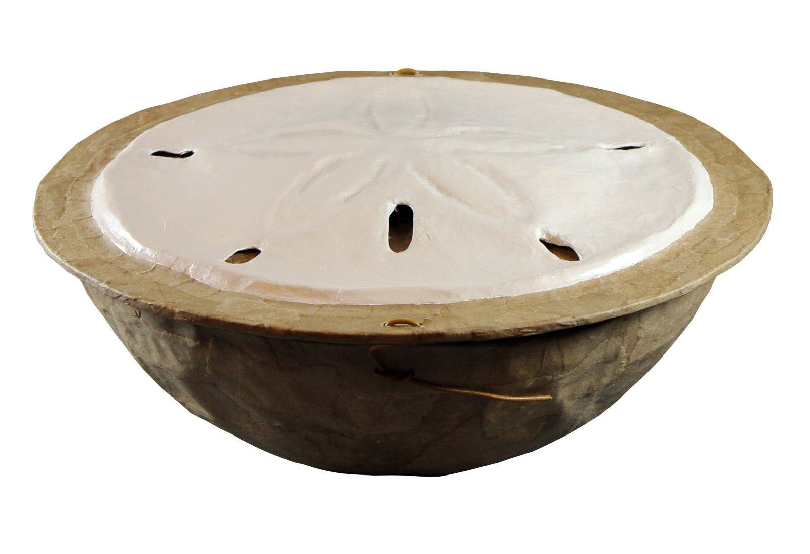 Primary image for Biodegradable Sand Dollar Urn, Hand Made Adult/Companion Funeral Cremation Urn