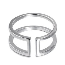Fonsalette Open Ring Parallel Bar Ring Open Circle Ring Sterling Silver ... - $24.09