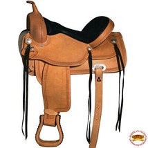 17 in Flex Tree Western Horse Saddle Leather Trail Pleasure Hilason Oile... - $479.95