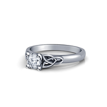 Solitaire Round Cut Sim Diamond 14k White Gold Plated 925 Silver Engagem... - $56.99