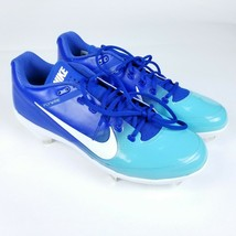 Nike Baseball Cleats Mens 13.5 Air Clipper Flywire Metal Cleats Blue 880261 - $19.39