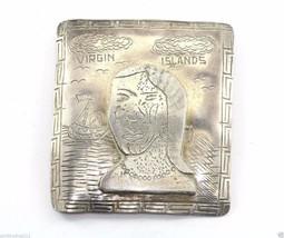 SOUTHWESTERN INDUSTRIA PERUANA VIRGIN ISLAND ETHNIC BROOCH PIN 900 SILVE... - $49.99