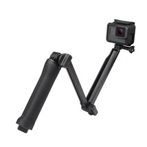 3-Way Grip Foldable Selfie Stick Extension Monopod with Tripod GoPro HERO - $21.99