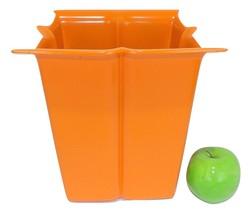 Vintage Garbage Can Laundry Hamper Bathroom Atomic Orange Bedroom Modern... - $39.00
