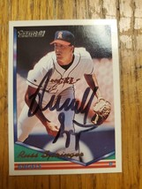 Russ Springer ~ California Angels ~ 94 Topps GOLD ~ Signed Autographed C... - $2.93