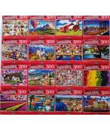 "500 Pc Jigsaw Puzzles 11""x18.25"" 1/Pk s20c, Select: Apples Birds Castles... - $2.99"