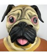 Pug Dog Full Latex Mask Accoutrements Halloween Cosplay Doggie Animal Cr... - $29.69