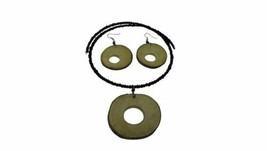 Natural Wood Chip Necklace Set - $12.77