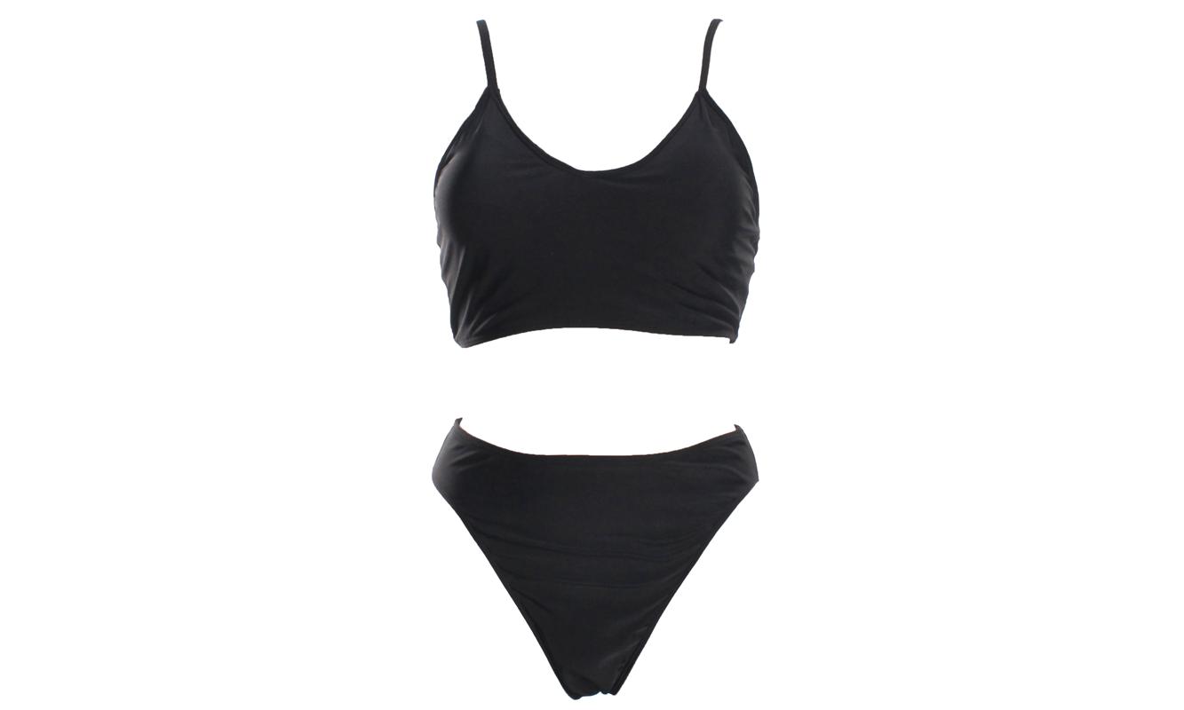 Women's Vintage V Neck Two Pieces Bikini Set
