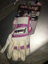 Franklin MLB Youth Classic Baseball Batting Gloves, Pink & White - $17.82