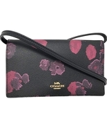COACH HAYDEN FOLDOVER CROSSBODY CLUTCH WITH HALFTONE FLORAL PRINT MFSRP:... - $75.00