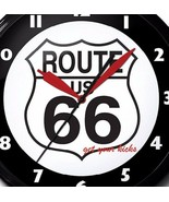 Route 66 Logo Neon Clock Hand Made USA 20 Inch Man Cave Game Room Business - $325.70