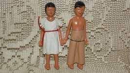 VINTAGE 50'S INDIAN GIRL AND WESTERN COWBOY/INDIAN W/CHAPS DOLLS MOVEABL... - $9.89