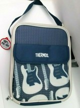 BRAND NEW Thermos Soft Cooler Blue/gray Guitar Insulated Warm/Cold Lunch... - $17.59