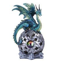 Fierce Green Dragon LED Light Ball Home Decor Figurine Handpainted Resin - $21.03