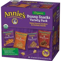 Annie's Organic Variety Pack, Cheddar Bunnies and Bunny Graham Crackers ... - $17.81