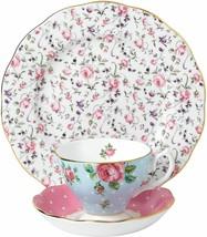 Royal Albert Modern Vintage Mix Teacup Saucer Plate Pink White 40034971 - $133.80