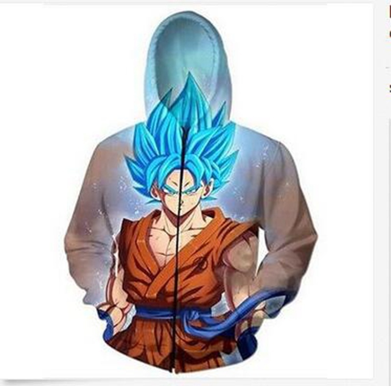 New Women/Men Cartoon Goku Galaxy 3D print Sweatshirts Hoodies Zipper outerwear