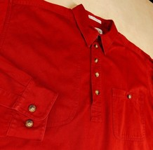 Orvis Sporting Traditions Red Pullover Sz L Shoulder Shooting Hunting  5... - $28.99