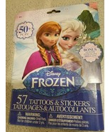 50+ Disney Frozen Tattoos & Stickers - 25 Temporary Tattoos + 25 Stickers - $7.83
