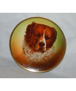 Royal Rudostadt Prussia Hand Painted Plate Saint Bernard Dog signed Hahn - $20.79