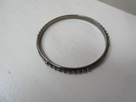 "Costume Jewelry , Bracelet . Faux Silver / Rhinestone , Opening 2 1/2"" ,... - $12.00"