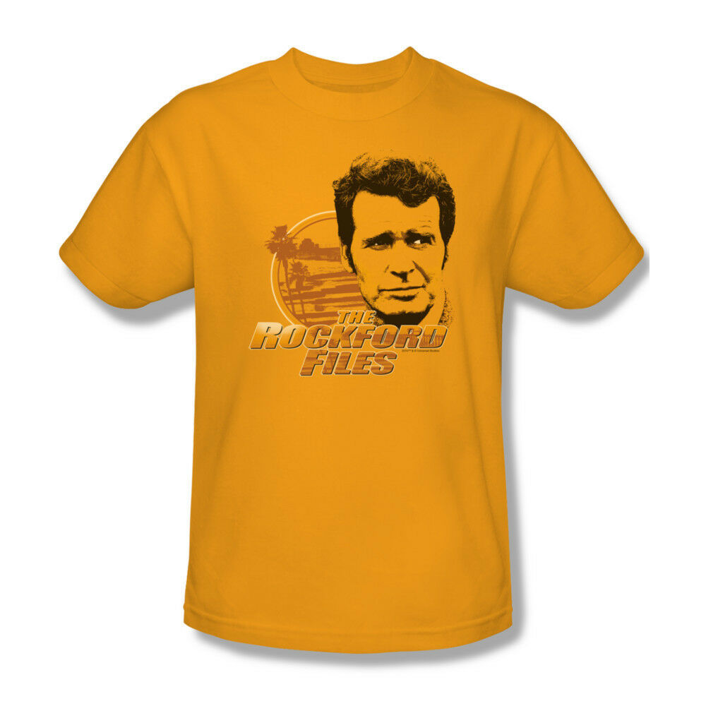 Rockford Files T-shirt vintage TV show distressed 100% cotton gold tee NBC303