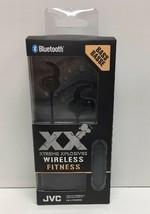 (New) JVC XX Wireless Fitness Bluetooth Headphones HA-ET103BTB J - $375,50 MXN